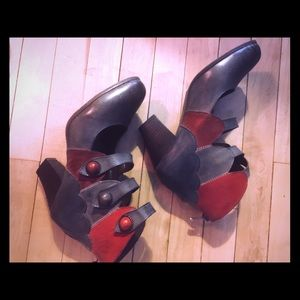Red & Gray Steampunk Shoes Never Worn! Sz9
